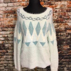Fuzzy Lauren Conrad sweater, s